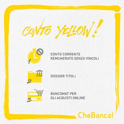 CheBanca! Conto Yellow | Mario Martino