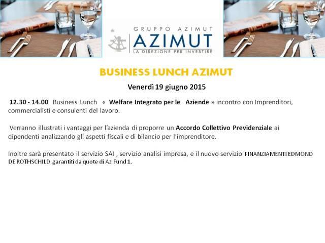 Invito Business Lunch Azimut