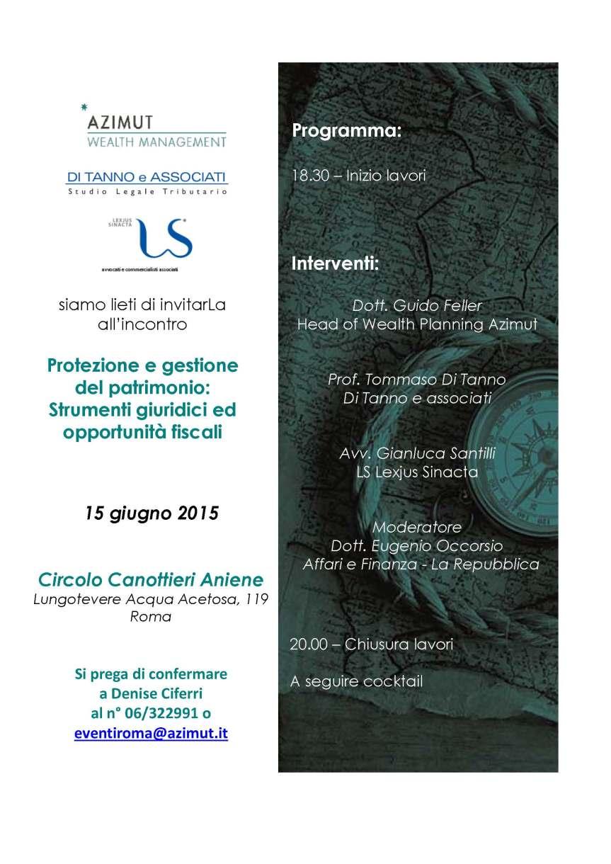 Invito Evento 15 giugno 2015