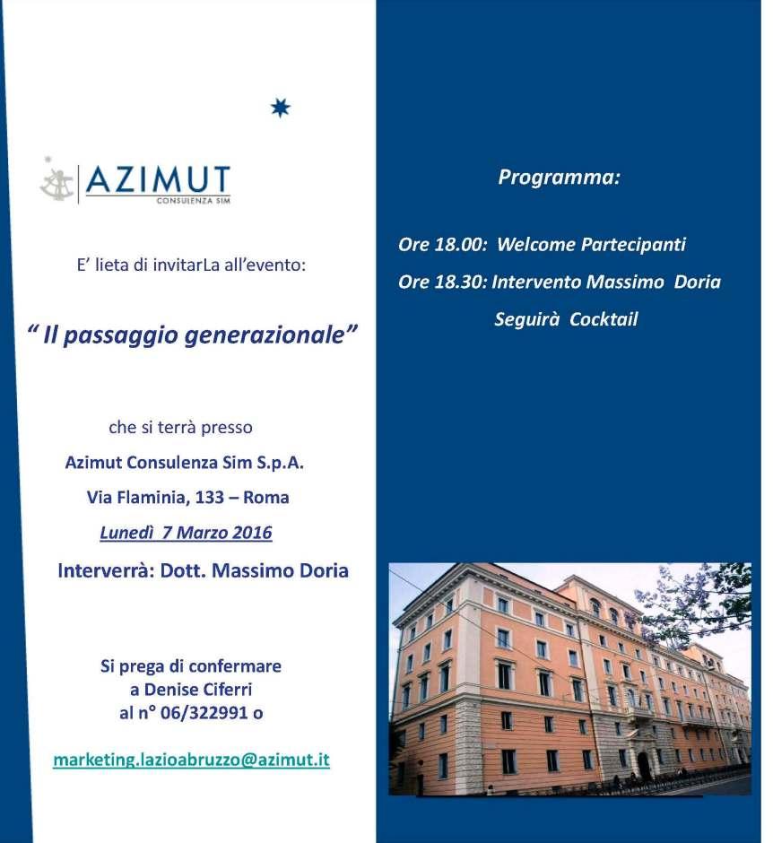 Invito 7 marzo 2016 - Roma