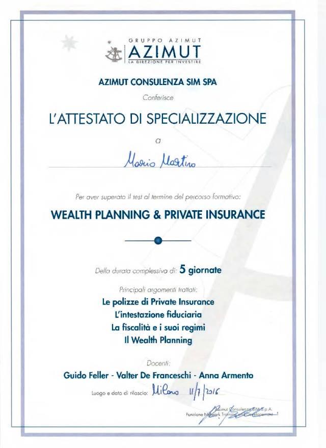 Attestato Wealth Planning