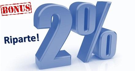 riparte 2% outlook con bonus